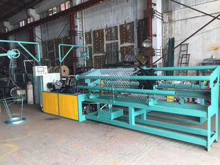 Stable Automatic Chain Link Fencing Machine , Wire Netting Making Machine Double Wire