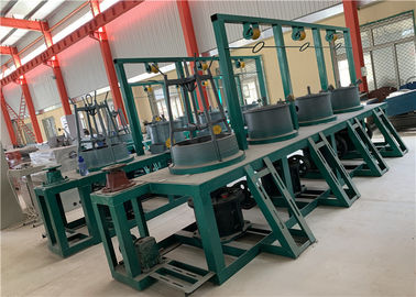 Continuous Drums Wire Drawing Line , Wire Manufacturing Machine Gear Rotation