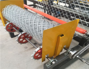 Semi Automatic Garden Fence Chain Link Fence Machine
